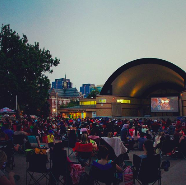 Movie Nights in the Park are just one of the many community activities that happen in Victoria Park / Photo via Instagram / @mninthepark