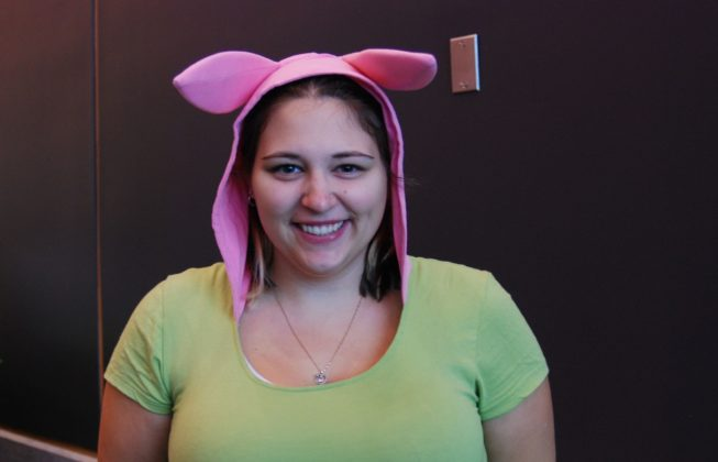 "Hayley Boucher as Louise Belcher from ""Bob's Burgers"" at London Comic Con in London, Ontario."