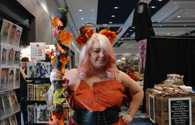 Leah Farmer as an Autumn Fairy at London Comic Con in London, Ontario.