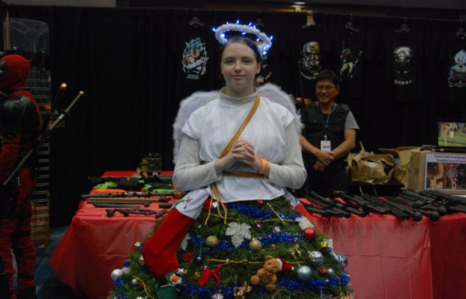 Evan Lawrence as an Angel Tree Topper at London Comic Con in London, Ontario