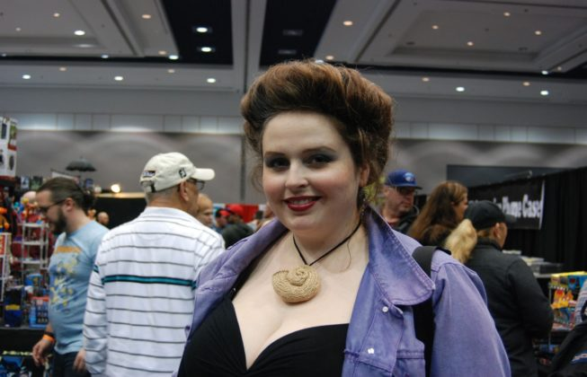 "Rebecca Jean Knits as Ursula from Disney's""The Little Mermaid"" at London Comic Con in London, Ontario."