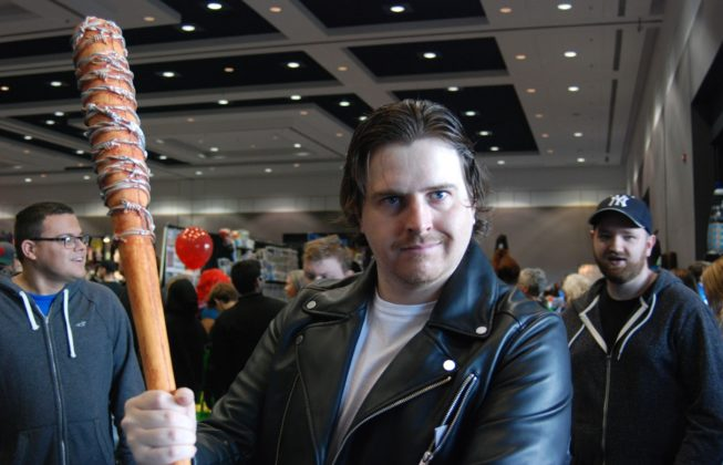 "Josh Jansen as Negan from ""The Walking Dead"" at London Comic Con in London, Ontario."