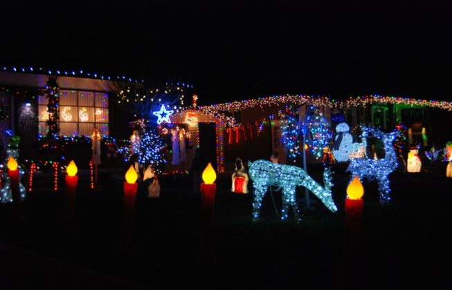 A light display on Jena Crescent in London, Ontario
