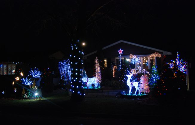 One of the light displays on Jena Crescent in London, Ontario