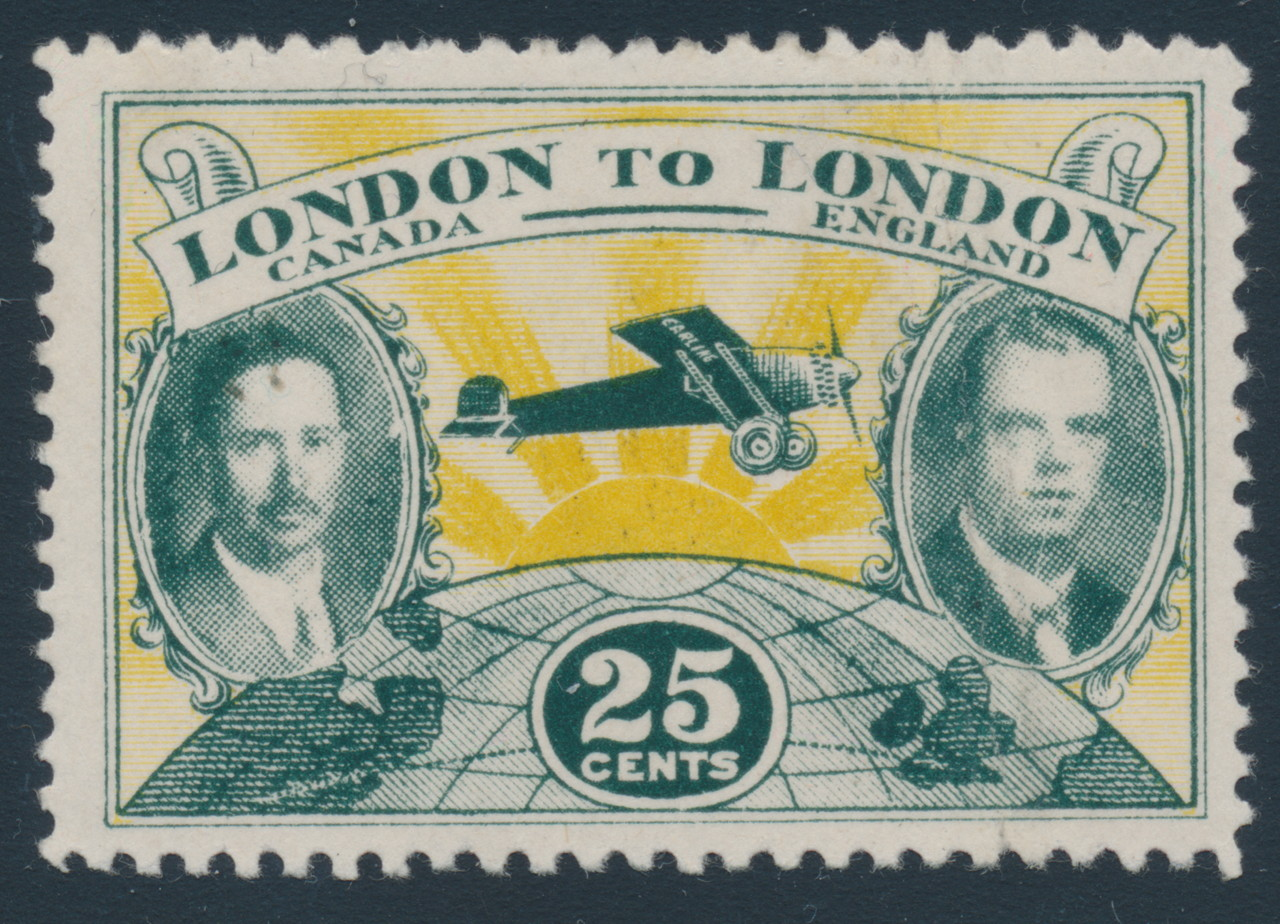 A stamp that says London Canada to London England.
