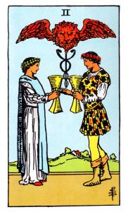 the two of cups tarot card