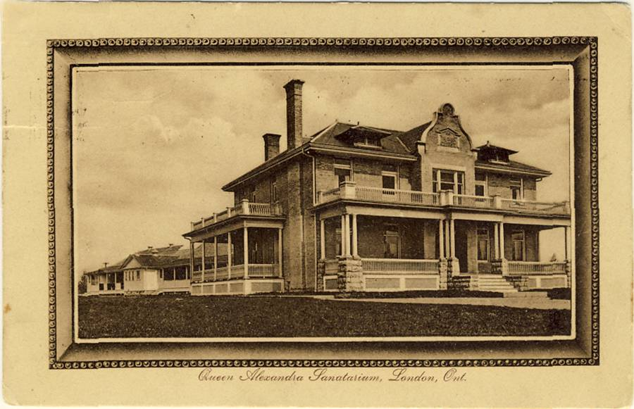 A sepia-toner card shows a large house-like building with several terraces.