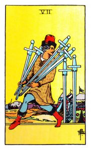 the seven of swords tarot card