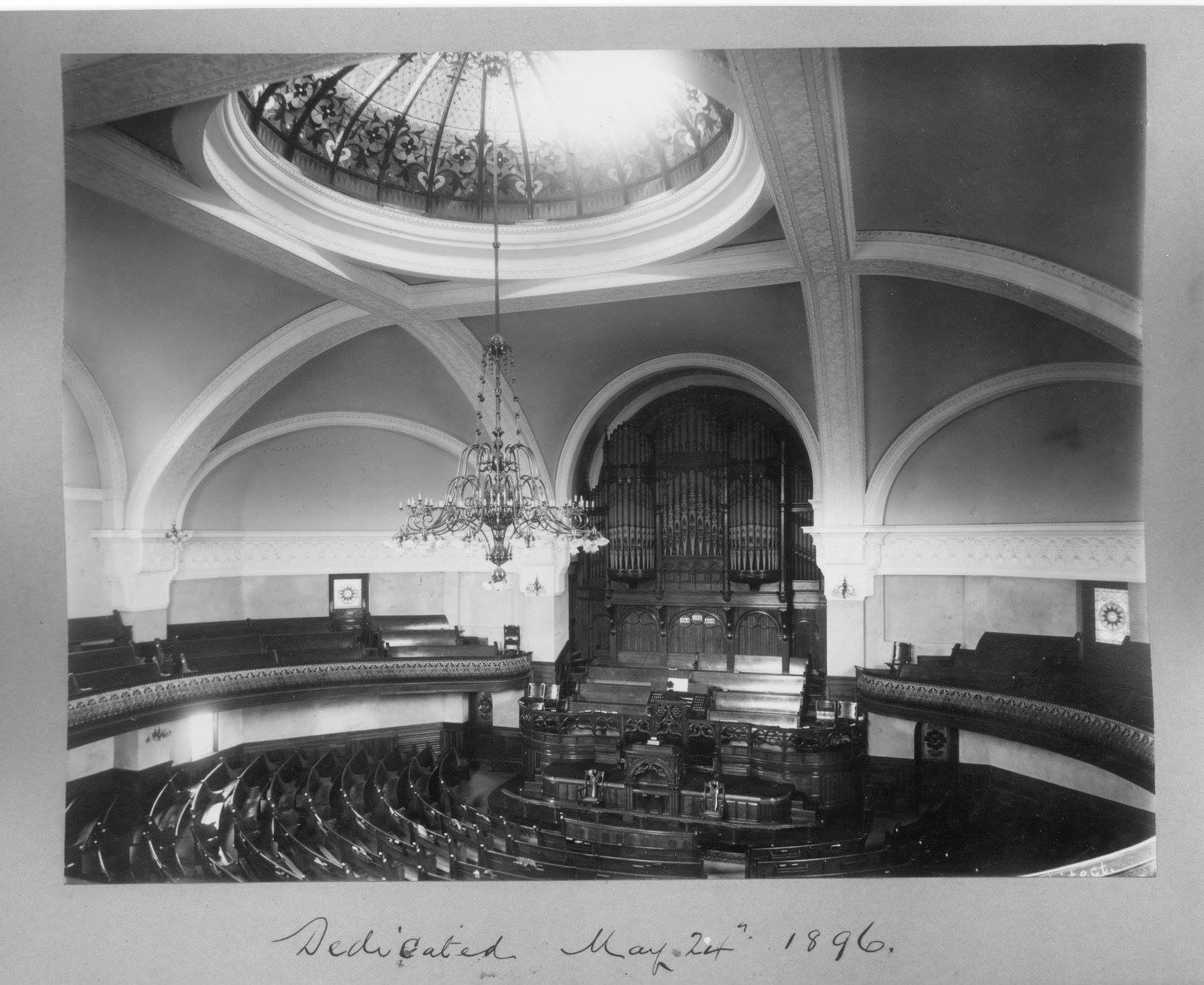 Glossy print of the beautiful interior of Dundas Street Centre Methodist Church in Midtown
