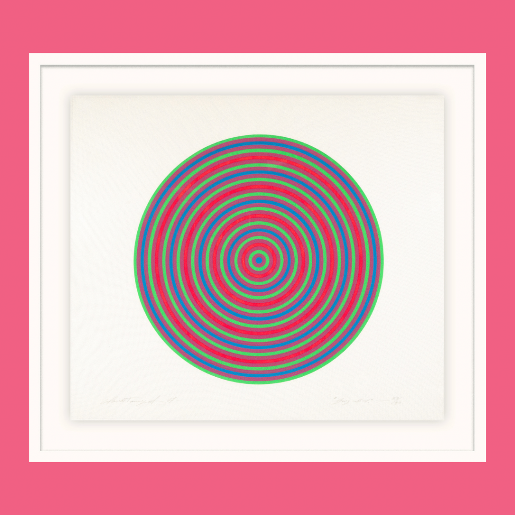 The visual art piece GONG-SI by Claude Tousignant, 1967.
