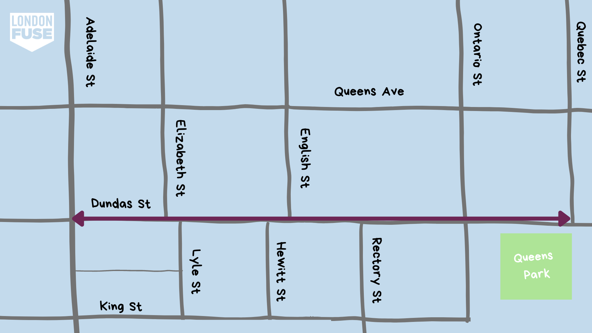 Map of Old East Village's audio tours