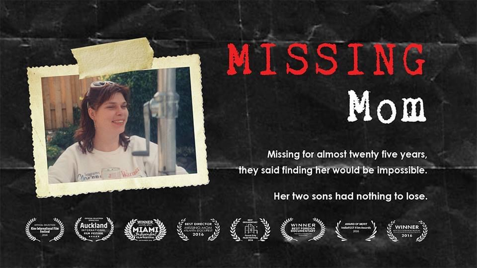 The poster for Rob McCallum's film Missing Mom.